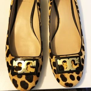 Tory Burch Block Heel Gigi Pump Leopard Print
